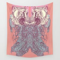 insect Wall Tapestries featuring insect by Maethawee Chiraphong