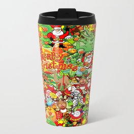 In Christmas melt into the crowd and enjoy it Metal Travel Mug