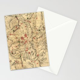 Vintage Map of Yellowstone National Park (1881) Stationery Cards