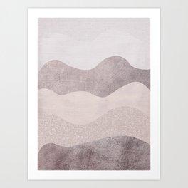 Pinky Waves Art Print