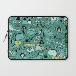 Communication Dinosaurs Laptop Sleeve