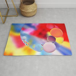 Rainbow bubbles Rug