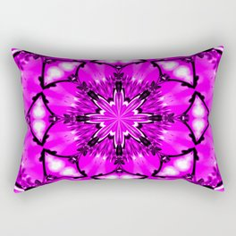 Eastern Redbud And The Bee Kaleidoscope Neon Pink Rectangular Pillow