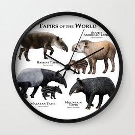 Tapirs of the World Wall Clock