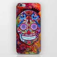sugar skull iPhone & iPod Skins featuring Sugar Skull by oxana zaika