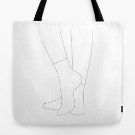 Socks - A minimalist line art drawing Tote Bag