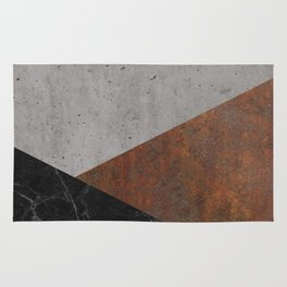 Concrete, Rusted Iron, Marble Abstract Rug