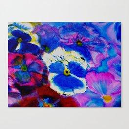Pansy Carpet Canvas Print