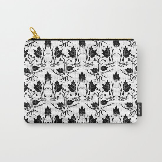Pattern tree black Carry-All Pouch