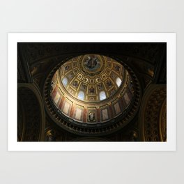 Budapest - Inside the Dome of the Cathedral Art Print