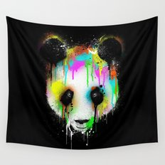 Panda Paint Face Wall Tapestry