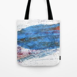 Steel blue colored wash drawing texture Tote Bag