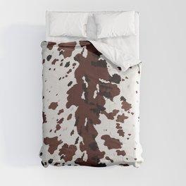 Texas Longhorn Cow Hide Print Comforters