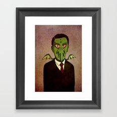 Prophets of Fiction - H.P. Lovecraft /Cthulhu Framed Art Print