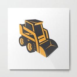 skid steer digger truck Metal Print