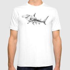 Hammerhead Shark White Mens Fitted Tee MEDIUM