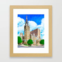 Big Bethel AME Church - Historic Sweet Auburn - Atlanta Framed Art Print