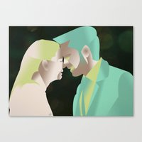 captain swan Canvas Prints featuring Captain Swan S4 Finale by Christine Ring