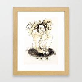 Tristan Corbière, Thick Black Trace, A la memoire de Zulma Framed Art Print