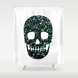 glitter skull Shower Curtain