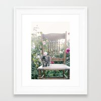 austin Framed Art Prints featuring Austin by With Love & Lace...