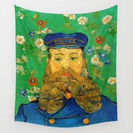 Vincent Van Gogh - Portrait of the Postman Joseph Roulin Wall Tapestry