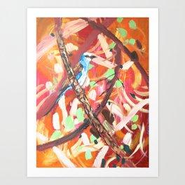 Abyssinian roller Art Print