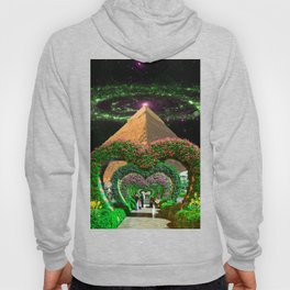 Lover Lane - Passage Next to Pyramid in Space Collage Hoody
