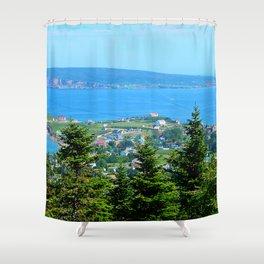 Bonaventure Island panoramic Shower Curtain