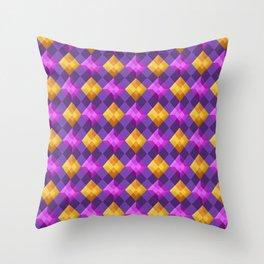 Bejewelled Argyle Throw Pillow