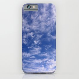 The Endless Deep Blue Sky iPhone Case