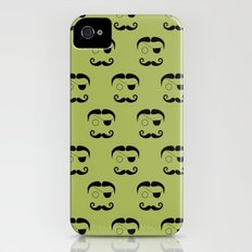 Olde Timey Mustache and Eyepatch Man iPhone (4, 4s) Slim Case
