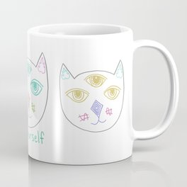 Three Eyed Cool Cat Coffee Mug