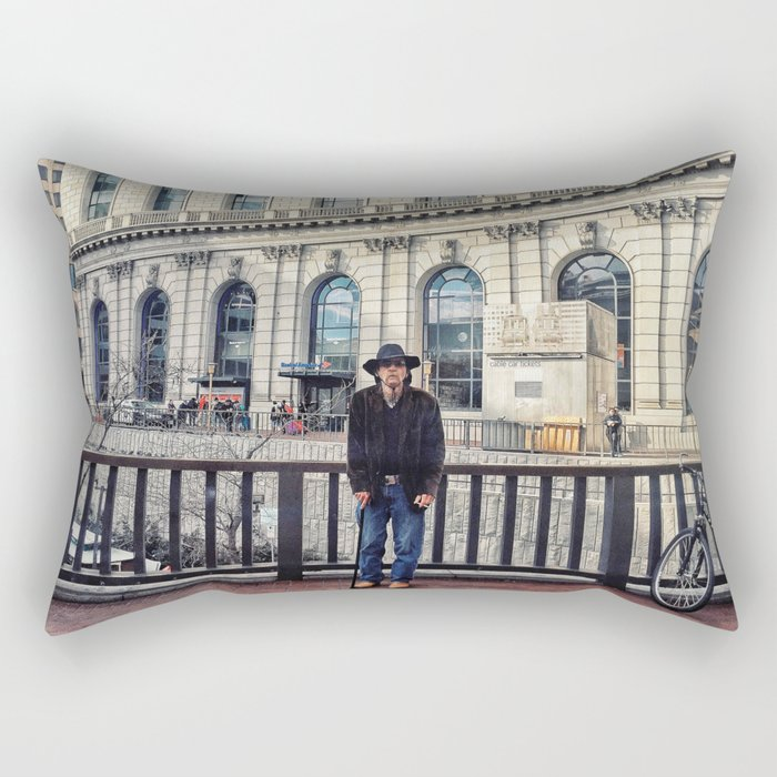 Street Portrait Rectangular Pillow
