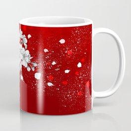 Red skies and white sakuras Coffee Mug