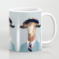 goat Mugs featuring Goat by Animal Crew
