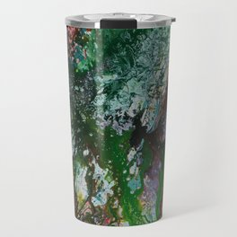 abstract jungle flowers Travel Mug