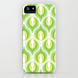 Green Dew Drops iPhone Case