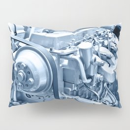 Turbo Diesel Engine Pillow Sham