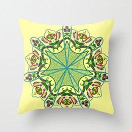 Mandala in florals Throw Pillow