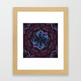 Ornate Blossom in Cool Blues Framed Art Print