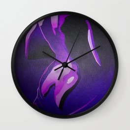 Nude In Lilac and PurplePurple Young Beautiful Nude Woman With Towel Wall Clock