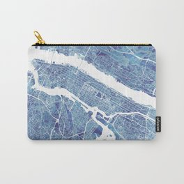 New York City Map United states watercolor Carry-All Pouch