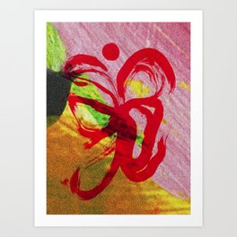 Colorful Marks at Sunset Art Print