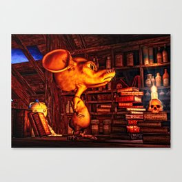 Mouse In The Magic Attic Canvas Print