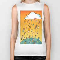 cloud Biker Tanks featuring Cloud by R.E.L