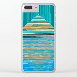Mountain Lake Abstract Clear iPhone Case