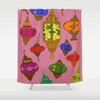 istanbul Shower Curtains featuring Istanbul lamps by andy_panda_