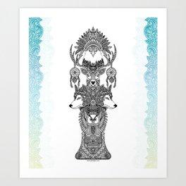 Indian Totem Art Print