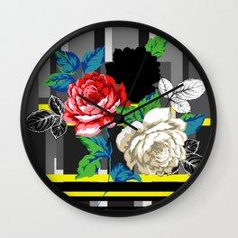 Chintz Rose Wall Clock